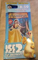 Anastasia 2 Disc Special Edition Dvd + Ice Age 2 Wrist Watch Factory Sealed