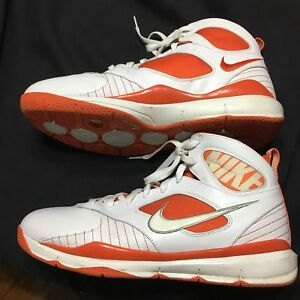 Details About Nike ZM Huarache Mens Size 13 2008 Athletic High Top Shoes Orange White Sports