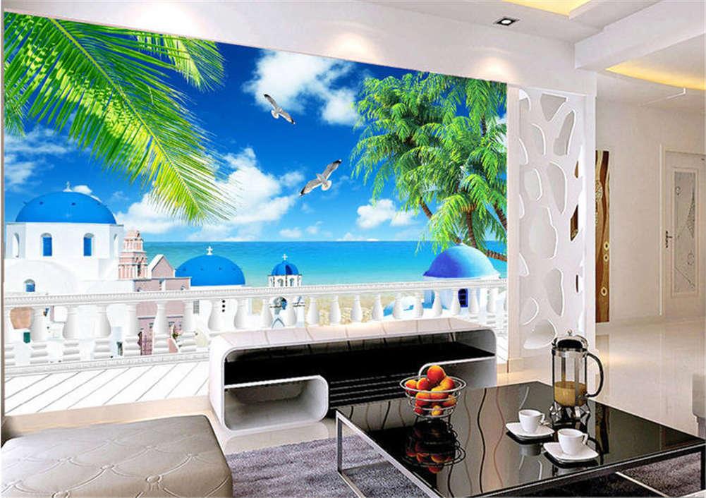 Green Fresh Coconut 3D Full Wall Mural Photo Wallpaper Printing Home Kids Decor