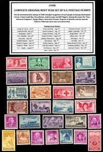1948-COMPLETE-YEAR-SET-OF-MINT-MNH-VINTAGE-U-S-POSTAGE-STAMPS