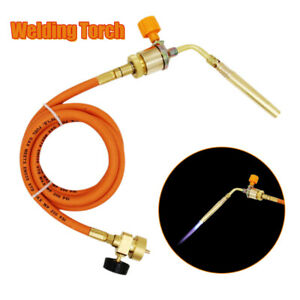 Gas-Ignition-Plumbing-Turbo-Torch-W-Hose-Solder-Propane-Copper-Welding-Tool