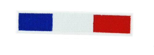 FRENCH FRANCE BIKER RACING FLAG PATCH Patches backpack BADGE IRON ON EMBROIDERED