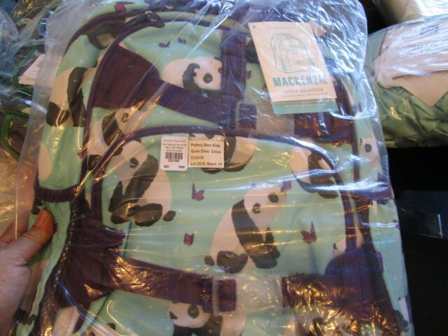Pottery Barn Kids Mackenzie Large Aqua Backpack Panda New