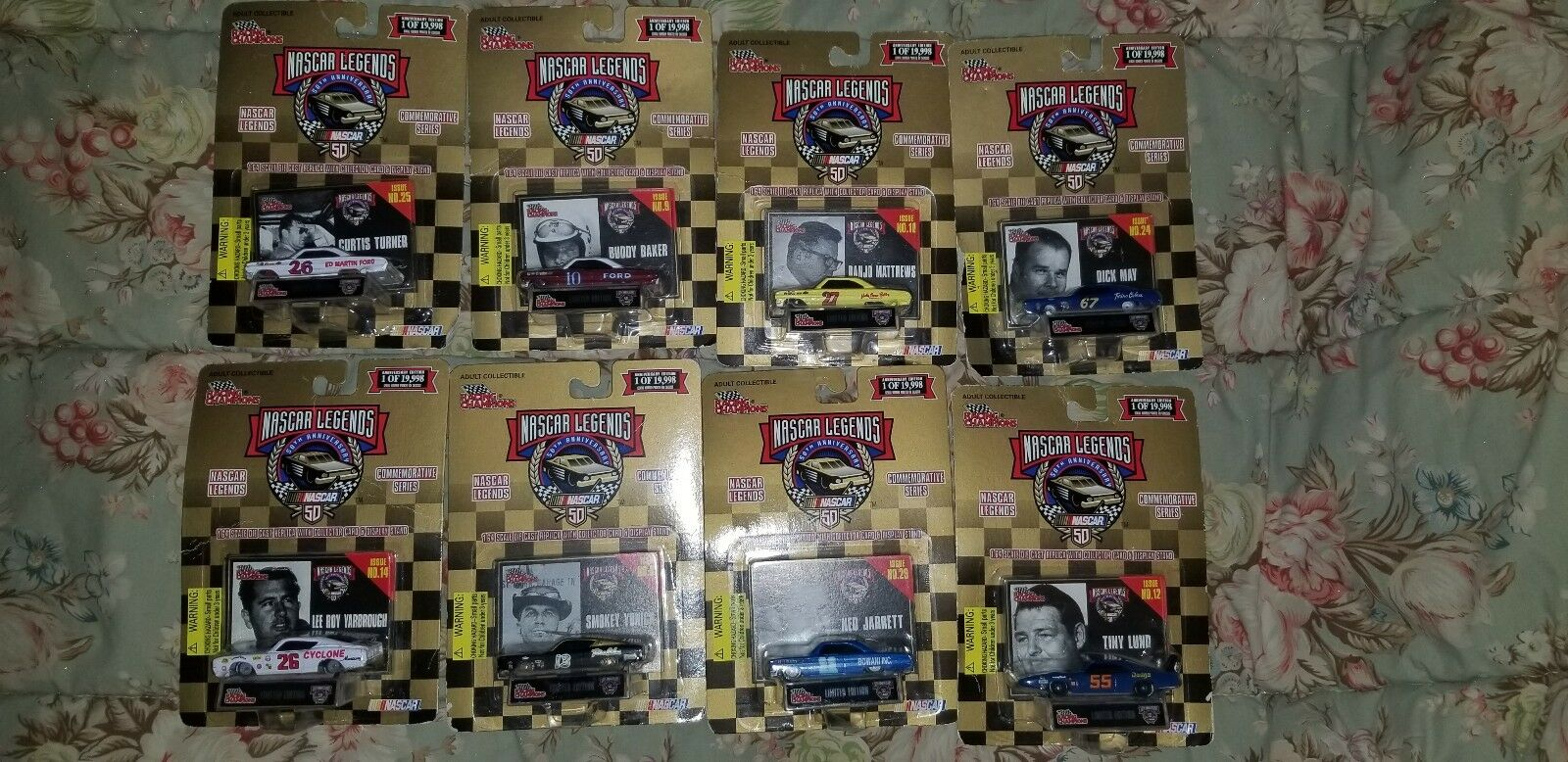 LOT OF 59 1 64 DIE CAST NASCAR COLLECTIBLE CARS NIP