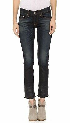 Jeans Initiative New Rag & Bone/jean The Crop Slim Straight Santiago Wash Ankle Jeans 26x27
