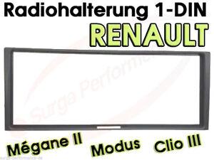 Radioblende Renault Megane 2, Modus Ab 2004, Clio 3 Radiorahmen Blende