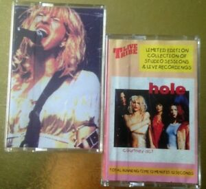 HOLE-Courtney-act-Unplugged-amp-Unloved-CASSETTE-TAPE-Live-X-2-tapes-Prints