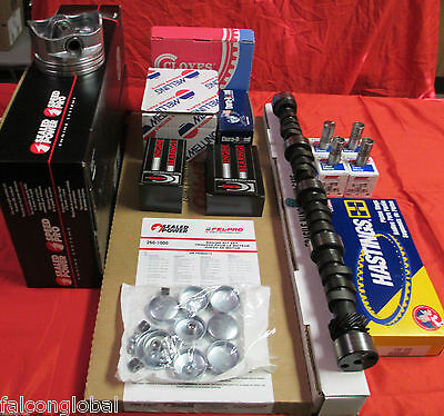 Chevy 350/5.7 VIN K MASTER Engine Kit Pistons+Rings+Cam+5/8 OP bearings 1987-95