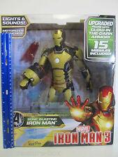 UPGRADED Marvel Sonic Blasting Iron Man 3 Action Figure Glow in the Dark Armor