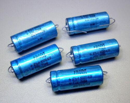 m0857 5 Pièces FROLYT Elkos 1000 µF//40 V-Axial