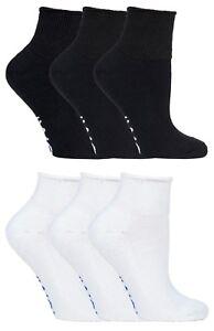 IOMI 3 paia uomo e donna calzini cotone corti senza elastico per diabetici