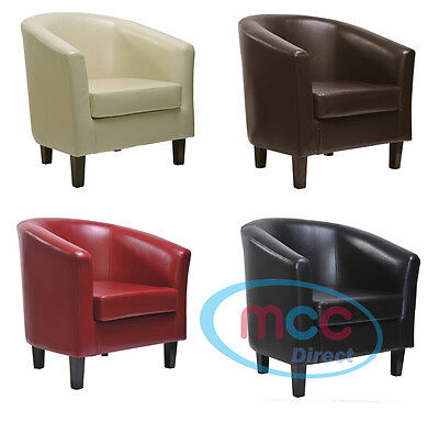 Mcc 174 Faux Leather Tub Chair Armchair Club Chair For Dining