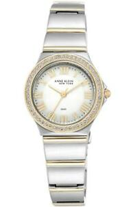 Womens-Anne-Klein-12-2217WMST-Interchangeable-Crystal-Gold-Stainless-Steel-Watch
