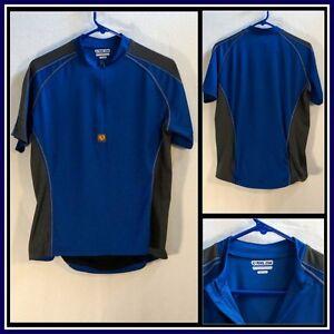 Pearl Izumi Blue Gray 1 Pocket Short Sleeve Bicycle Jersey Sz (M ... f00d89352