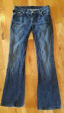 Rock Republic Bootcut Jeans size 27 with wear on the bottom of leg dark denim