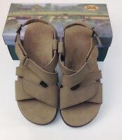 $153.00 Sas San Antonio Shoemakers Comfort Shoes Sandals Huggy Taupe Size 9.5 W