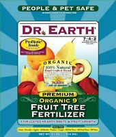 Dr. Earth 708p Organic 9 Fruit Tree Fertilizer In Poly Bag, 4-pound , New, Free on sale