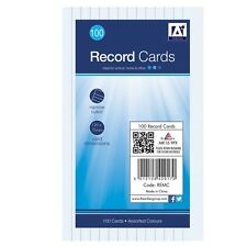 Anker International Stationery 100 Lined Record Note Cards 127 X 75mm Size