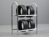 Custom Aluminum Tire Wheel Rim Rack Simulation For Scale 1/10 Tamiya Remote Car