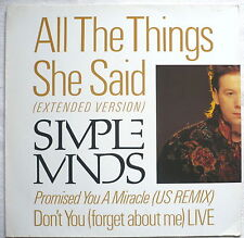 """SIMPLE MINDS - All the things she said (Extended version) - 12""""-Maxi"""