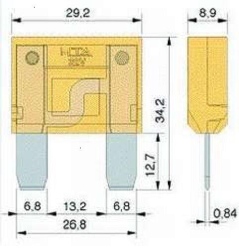 Kfz-Stromversorgung Maxi-Flachsicherung 100A beige Sicherung Auto Pkw Lkw