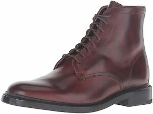 Men/'s Frye James Wingtip Lug Lace Up Boot Brown Warm Shearling Lined 84123 DBN