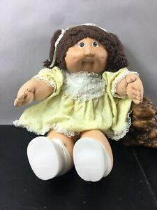 Cabbage-Patch-Kids-Coleco-Brown-Hair-Freckles-First-Edition-CPK-1982