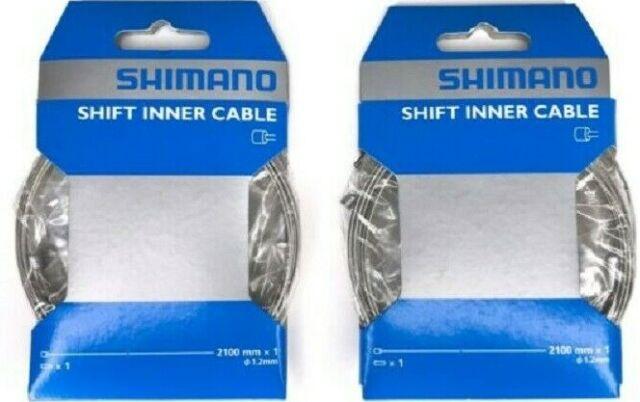 Shimano Shift Inner Caps Bicycle Derailleur Cable End Crimps 1.2mm Bulk