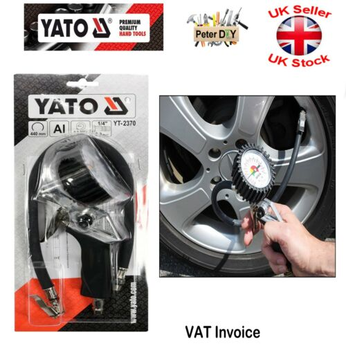 Yato Professional TIRE INFLATING GUN WITH MANOMETER Tyre Inflator YT-2370