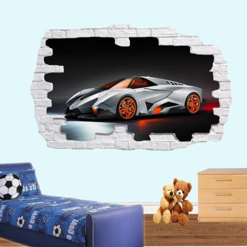 Cars Lamborghini Avendator Wall Sticker 3d Art Mural Decal Home Office Decor SI4