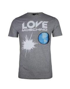 T-Shirt Love Moschino Grau