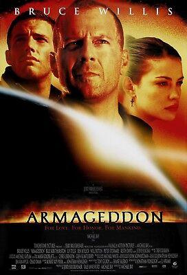Armageddon 1998 Retro Movie Poster A0-A1-A2-A3-A4-A5-A6-MAXI 692