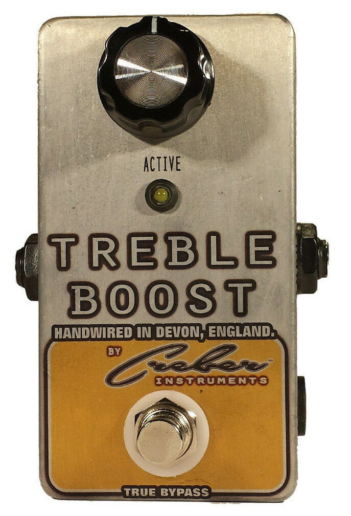 TREBLE BOOST BRIGHT BOOSTER Handwirot Guitar Instrument Pedal - FREE POSTAGE