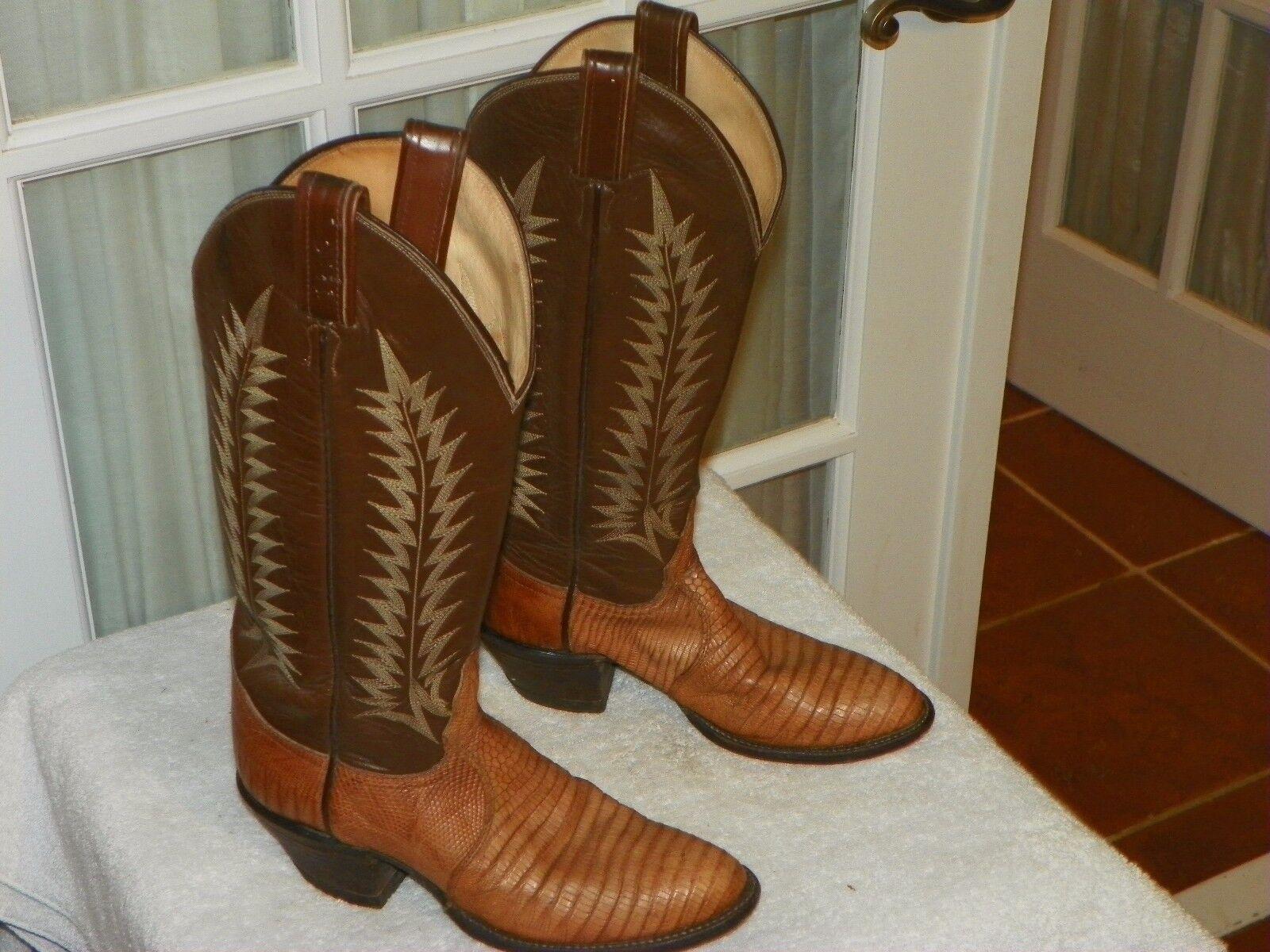 fornire un prodotto di qualità VTG VTG VTG Tony Lama nero Label Lizard Skin Cowgirl stivali Donna  Dimensione 5 A narrow USA  qualità ufficiale