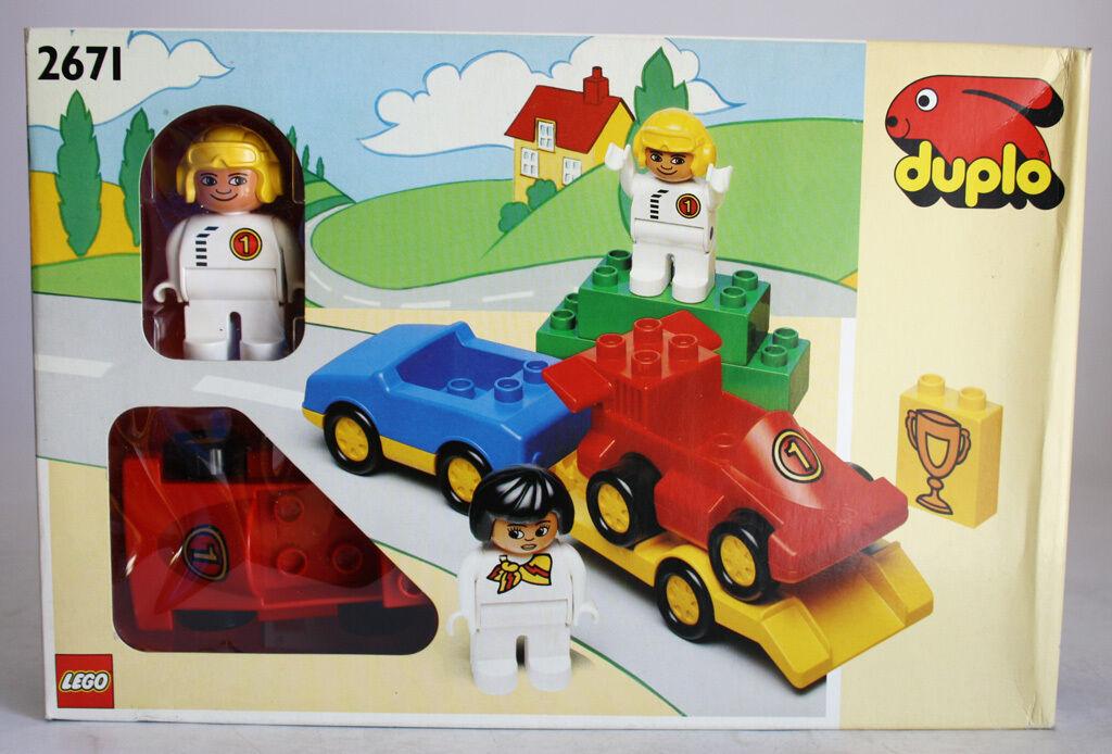 VERY RARE VINTAGE 1991 LEGO DUPLO 2671 RACING  squadra RtuttiY nuovo SEALED    marche online vendita a basso costo