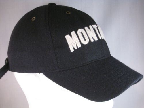 UNIVERSITY OF MONTANA GRIZZLIES NEW FOOTBALL HAT BLACK WOOL BLEND THROWBACK