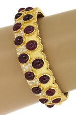 MOUAWAD 18K GOLD RUBIES & DIAMONDS BANGLE BRACELET value $45,000 By Mouawad