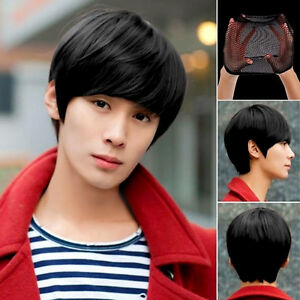 Anime-Handsome-Boys-Short-Wig-New-Vogue-Sexy-Men-039-s-Male-Hair-Cosplay-Wigs-Pop