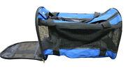 Pet Carrier Travel Bag Large Blue