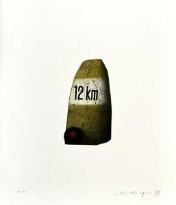 F. Meckseper: 12 km. [19] 77. con firma originale-farbradierung.