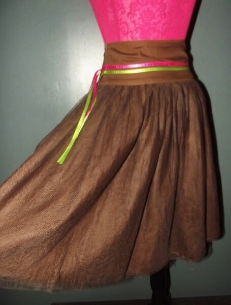 KENZO JUPE SKIRT DOUBLE JUPON TULLE LIENS LIENS LIENS T 34 76831f