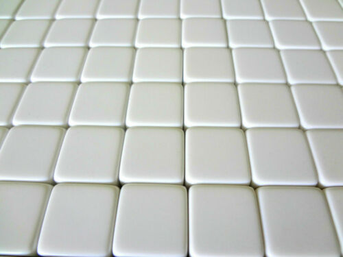 """Counting Cubes 16mm D6 Square Gaming Casino Lot of 50 Blank White Dice 5//8/"""""""
