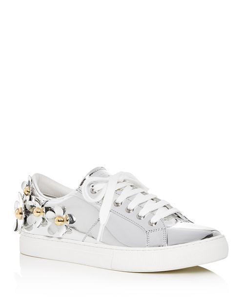 Marc Jacobs Daisy  Metallic Low -Top scarpe da ginnastica con fiori di studio  ordinare on-line