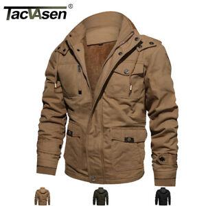 TACVASEN-Men-Winter-Thermal-Fleece-Jacket-Cargo-Zipper-Pockets-Windbreaker-Coats