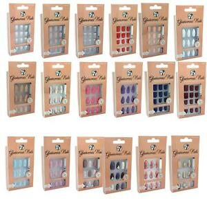 W7-Glamourous-Nails-Stick-On-False-Nails-with-Glue-Short-Long-Stiletto-Square