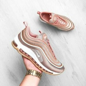 Details about Nike Wmns Shoes Air MAX 97 Ultra Rose Gold Brown Pink 917704 600 Size 10 US