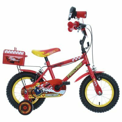 """Apollo Firechief Kids Boys Bike Bicycle 12"""" Inch Wheels Steel Frame in Red"""