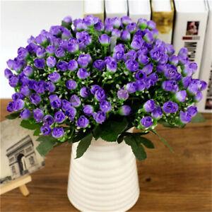 36-Heads-Atificial-Silk-Flower-Bunch-Wedding-Home-Floral-Grave-Outdoor-Bouquet-g