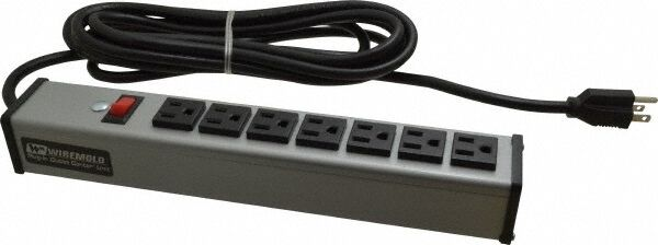 WireMold UL204BD 7outlets 15ft cord