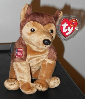 Dog NYPD MWMT Ty Beanie Baby Courage